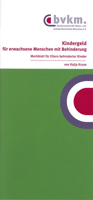 Cover des Kindergeld-Merkblattes
