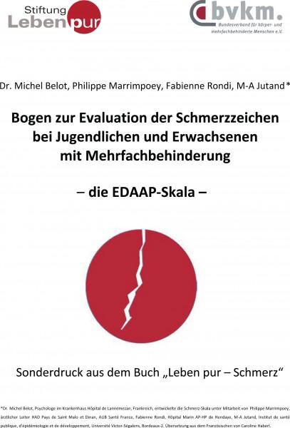 Abbildung von EDAAP – Skala / Schmerzerfassungsbogen